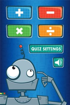 RoboMath (($0.99) Quiz customization makes learning basic math facts easy.     -Learn and remember basic Addition, Subtraction, Multiplication and Division.     - Set the number of problems for a each quiz.    - Choose specific numbers to practice with.    -Track your speed with the built-in timer.    - Learn at your own pace!
