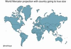 Common map projections warp our view of the globe. This graphic reveals the true size of Africa, which could fit the U. Accurate World Map, Word Map, Put Things Into Perspective, Countries Around The World, Our World, Clever, Africa, Blog, Instagram