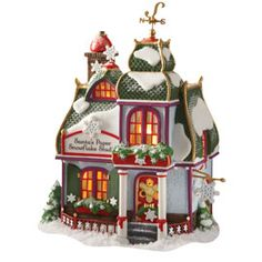 "Department 56: Products - ""Santa's Paper Snowflake Studio"" - View Lighted Buildings"