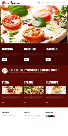 The 15 best Pizza Website Templates images on Pinterest | Website ...