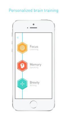 Elevate es una aplicación de entrenamiento mental diseñada para mejorar la concentración, las expresión oral, la velocidad de procesamiento ... ¡Muy recomendable!