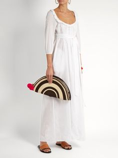 b6237291890 Thierry Colson Rosine embroidered cotton-lawn maxi dress Beachwear