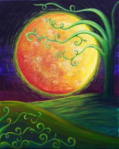 Harvest Moon- Pinot's Palette - Lexington Center Painting Library