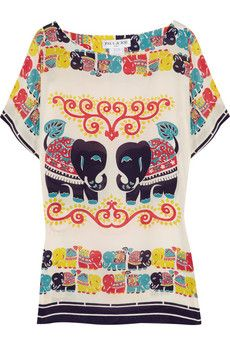 Paul & Joe Elephant Printed Silk Tunic