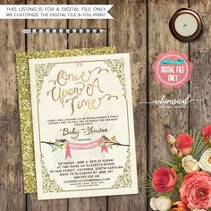 Baby Shower Invitation Once Upon A Time by WhimsicalBabySC on Etsy