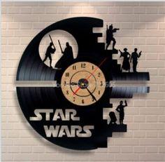 1A Star Wars 3D Wall Clock Vinyl Record Clock Creative Pendant Clock Home Decoration