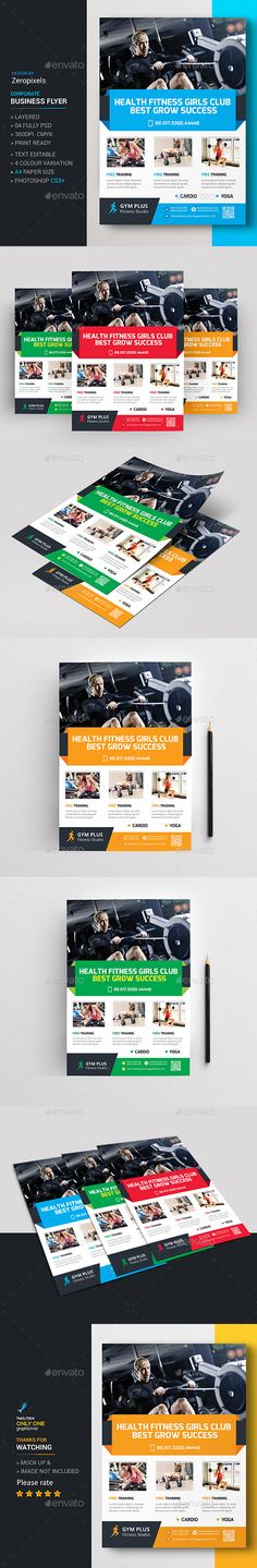 Fitness Gym Bifold  Halffold Brochure  Gym Fitness And Templates