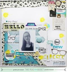 Scrap Your Stash: {Stamps}  *new glasses by Jennifer Kinkade. Love the triangles!