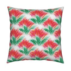 Catalan Throw Pillow featuring Watusi Lilies (small) by anniedeb | Roostery Home…