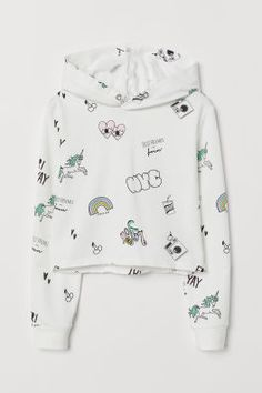 Printed Hooded Sweatshirt - The most beautiful children's fashion products Cute Lazy Outfits, Kids Outfits Girls, Teen Fashion Outfits, Printed Sweatshirts, Hooded Sweatshirts, Hood Girls, Jugend Mode Outfits, Pantalon Cigarette, Stylish Hoodies