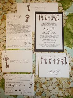 pretty, love keys #wedding #invitation