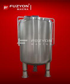 Gıda Paslanmaz Ekipmanları - Load-Cell Karıştırıcılı Proses Reçete Oluşturma Tankı (Yük Hücreli) | Füzyon Makina