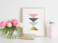 Wall Art Abstract Geometric Printable Home by PennyJaneDesign