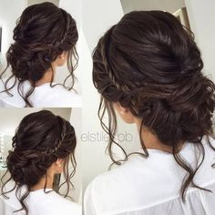 cool Half-updo, Braids, Chongos Updo Wedding Hairstyles / www.deerpearlflow......