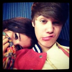 Justin Bieber and Selena Gomez funny faces