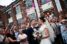 Art Gallery Wedding in Newcastle | Biscuit Factory Biscuit Room Wedding | Image by Jamie Penfold http://bellebridalmagazine.com/all-the-way-from-oz-lily-and-garys-wedding-at-the-biscuit-room/