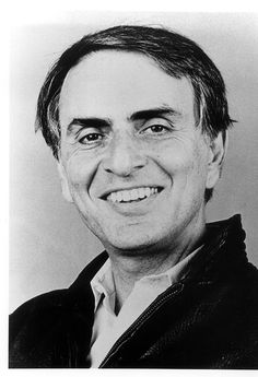 Carl Edward Sagan. 'He was an American astronomer, astrophysicist, cosmologist, author, science popularizer and science communicator. He advocated scientifically skeptical inquiry and the scientific method, pioneered exobiology and promoted the Search for Extra-Terrestrial Intelligence (SETI).'  Taken away too early in 1996.