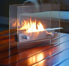 Tabletop Fireplace Fits Better In Cramped Apartments $159