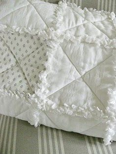 Shabby Chic Inspired: Rag Quilt Tutorial #quilting #allwhite #Inspiration