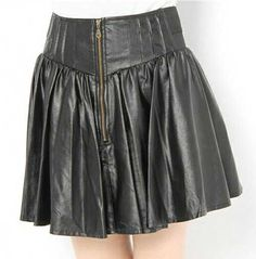 Sauvage Flare Leather Skirt - # 418 - 50 Colors [Sauvage Flare Leather Skirt - # 418] - $120.00 : LeatherCult.com, Leather Jeans   Jackets   Suits