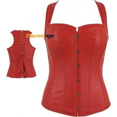 Make a statement with the stunning red overbust corset. Made with gorgeous soft faux leather that accentuates that hourglass figure. With extra support from the wide comfortable shoulder straps, full back lacing and 10 flexible bones. Fasten at the front with steel busk clips to highlight the beautiful sweetheart bust. This is an awesome addition to anyone's wardrobe that can be worn to a variety of occasions on its own or for a more modest look, over a shirt. www.discreettiger.com.au