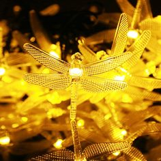 Kumedia Dragonfly Shape 19.7 ft 30 LEDs Solar Powered String Lights, Waterproof, 2 Modes (Steady, Flash) for Outdoor, Garden, Stage, Christmas Decorations (Warm White) -- Unbelievable  item right here! : Wedding Decor