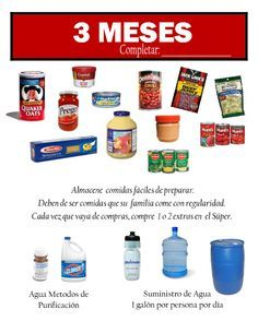 3 Meses dispensa familiar -  #Almacenamiento #Emergencia  #comestibles