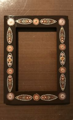 By Joanne Grossman Dot Art Painting, Mirror Painting, Mandala Painting, Stone Painting, Painting Frames, Mandala Canvas, Mandala Dots, Mandala Pattern, Mandala Design