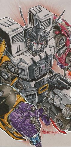 Menasor by Alex Milne 80s Cartoon Shows, Cartoon Tv, Transformers Characters, Transformers G1, Gi Joe, Dragon Ball Z, Transformers Generation 1, Michael Bay, Morning Cartoon