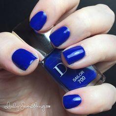 Dior: ☆ Sailor ☆ (#700) ... a beautiful royal  blue nail polish