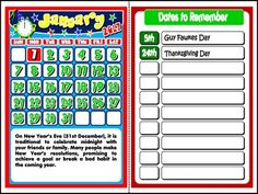 This mini pack contains: - 1 set of Calendars to display in the classroom, with reference to important holidays and celebrations + blank spaces to write other important dates, such as students. Student Calendar, Classroom Calendar, School Calendar, 2016 Calendar, Calendar 2019 And 2020, Student Birthdays, Important Dates, Teaching English, Booklet