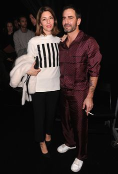 Longtime friend and muse Sofia Coppola with Marc backstage at the Marc Jacobs FW13 show