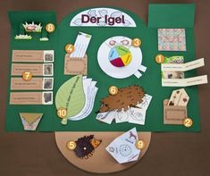 Lapbooks are an exciting, creative way to deliver contents and document individual learning steps for children in preschool and kindergarten. Here you can find all the information, contents and templates you need for creating your hedgehog lapbook. Science Projects, School Projects, Primary School, Elementary Schools, Kindergarten Portfolio, Petite Section, Teacher Hacks, Kids Corner, Science For Kids