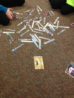 Popsicle stick puzzle library center with IA award books--DCG Elementary Libraries