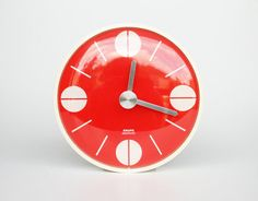 wall clock by krupps in red (1970s)
