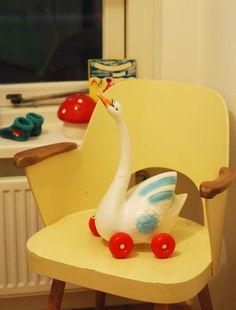 Adorable mid-century child chair.  pinned by www.auntbucky.com  #midCentury #chair #design