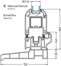pvc threshold for bifold plus door from linear