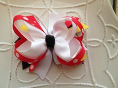 Boutique Hair Bow by WhitMariesBoutique on Etsy, $4.50