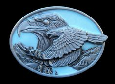 TWO FLYING BALD AMERICAN EAGLES EAGLE BLUE SKY BELT BUCKLE BOUCLE DE CEINTURE #eagles #flyingeagle #eagle #eaglebuckle #eaglebeltbuckle #beltbuckle