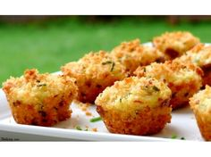 Mini Crab Cakes- these are baked.  I think they're cute, but I will leave out the orange/lemon zest and sprinkle in some cajun seasoning.