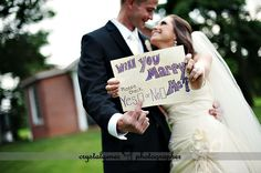 Will You Marry Me?  Please Check Yes or No.  So cute!  By Crystal Genes Photography http://www.crystalgenes.net