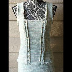 Zara Knit Dress Gorgeous preppy style knit dress from Zara, size medium. Gold button accents. Zara Dresses Midi