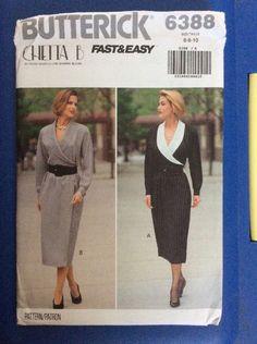 Vintage Pattern New Butterick 6388 Dress Size 6-8-10 Misses Petite Uncut  | eBay