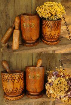 vintage mortar and pestle