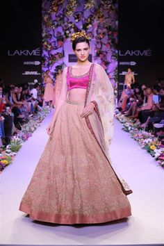 Mystical Collection at Lakme Fashion week 2014 by Shyamal and Bhumika Indian Bridal Fashion, Asian Fashion, Lace Bridesmaid Dresses, Bridal Dresses, Indian Dresses, Indian Outfits, Indian Clothes, Shyamal And Bhumika, Indian Designer Outfits