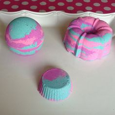 Cotton Candy Bath Bomb Colorful Bath Bomb by BodyBakeryProducts