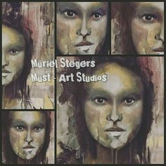 #therapeuticart #murielstegers #mixedmedia #abstract #faces #expressive