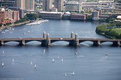 Longfellow Bridge also called the Salt & Pepper Bridge