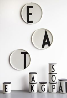 These new plates from Design Letters are designed so you can use them both as a personal plate AND as a sophisticated dish. C for chocolate, O for olives…Off course the new Design Letters plates also looks great on the wall! (OBS in shops by November)