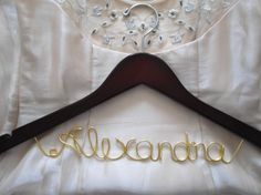 Bridal hanger Personalized Bridal Dress Hanger by ClosedCaptions, $21.99